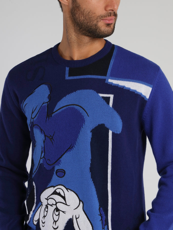 Disney Dopey Blue Knitted Sweater