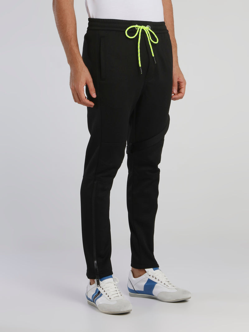Black Strap Detail Active Pants