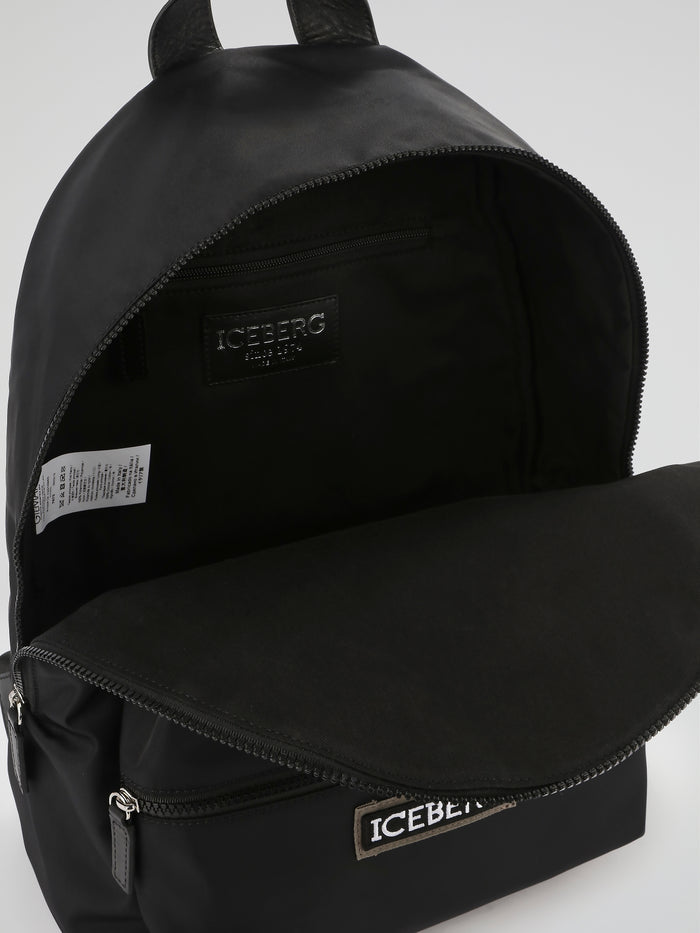 Black Logo Backpack Bag