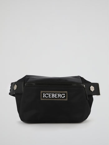 Black Logo Strap Belt Bag
