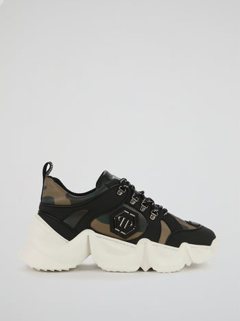 Runner PP1978 Camo Chunky Sneakers