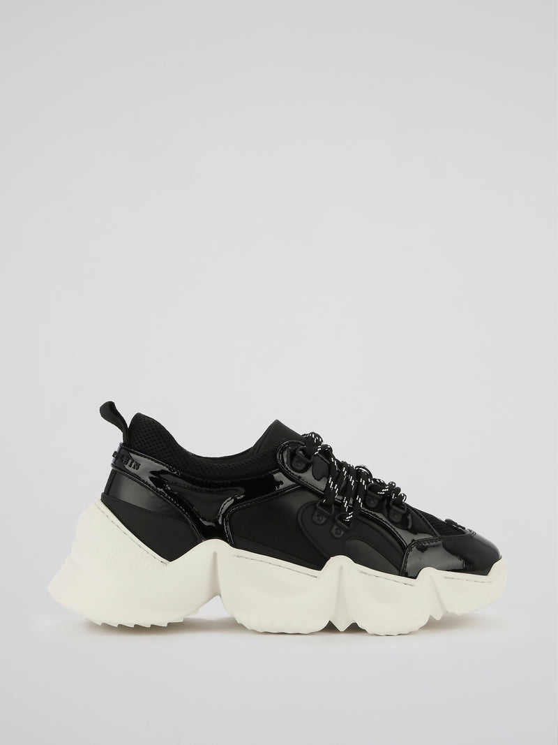 Runner Statement Black Chunky Sneakers