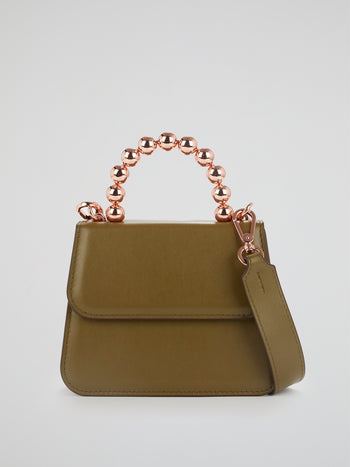 Khaki Lou Ball Handle Flap Purse