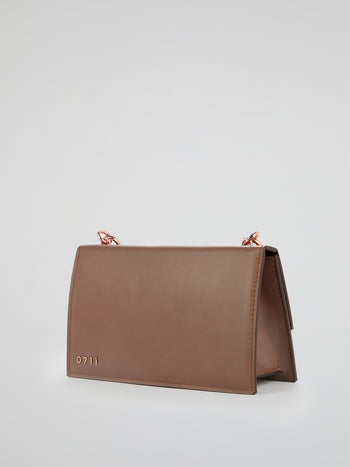 Brown Ada Flap Purse