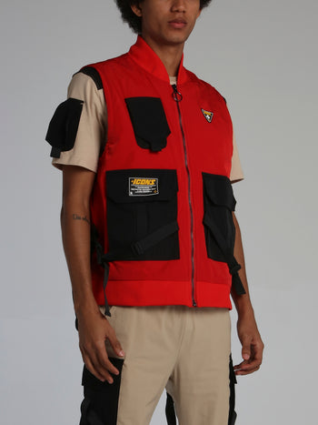 Red Icons Tactical Zip Up Vest