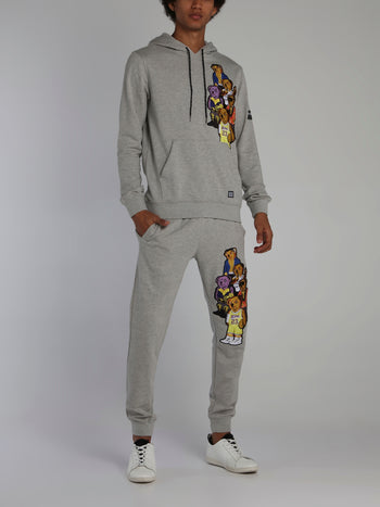 Bear Gang Grey Drawstring Jogging Trousers