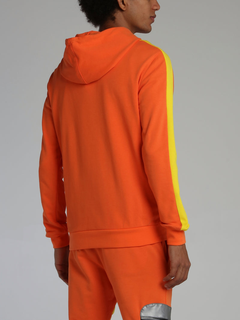 Orange Warning Statement Hooded Sweatshirt