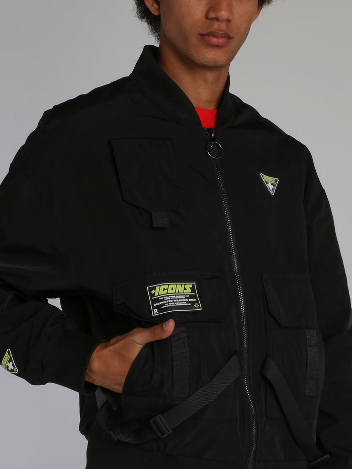 Black Icons Tactical Flight Jacket