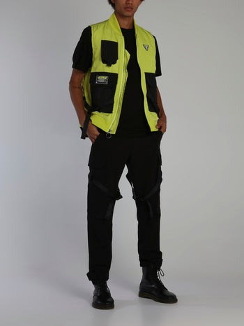 Neon Yellow Icons Tactical Zip Up Vest
