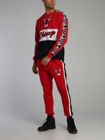 Chicago Bulls Final Seconds Red Fleece Pants