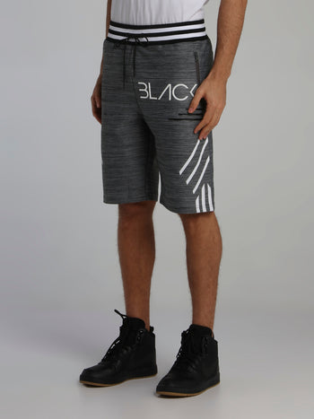 Black Stripe Detail Cyber Shorts