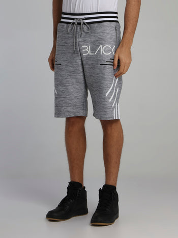 Grey Stripe Detail Cyber Shorts