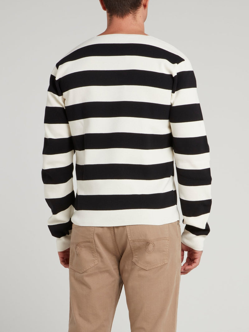 Striped Knit Pullover