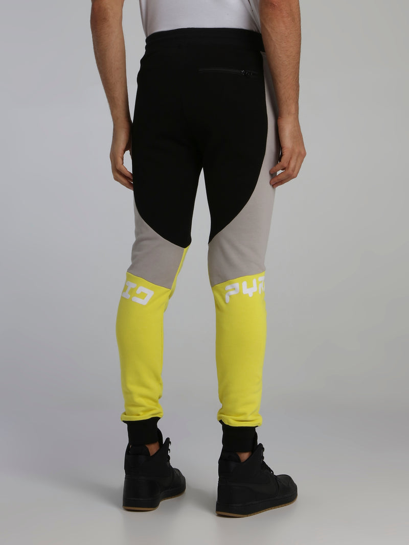Colour Block Racer Drawstring Pants