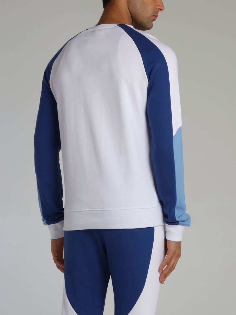 Colour Block Racer Crewneck Sweatshirt