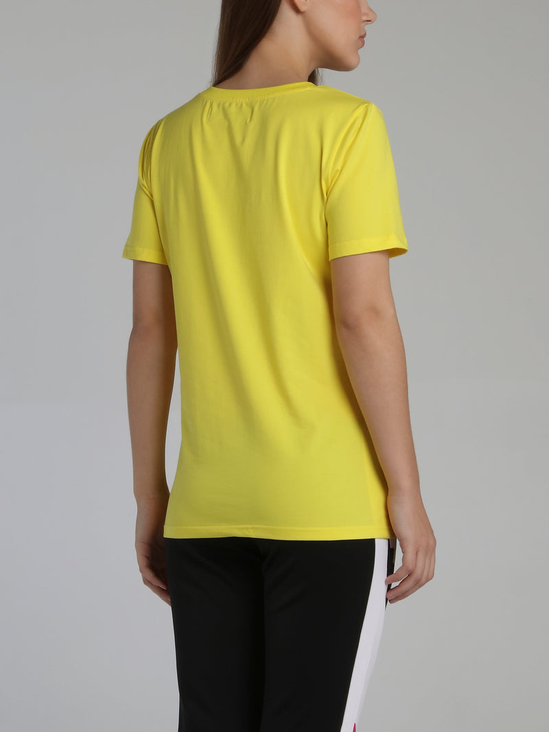 Yellow Core 3D Rubber Patch T-Shirt