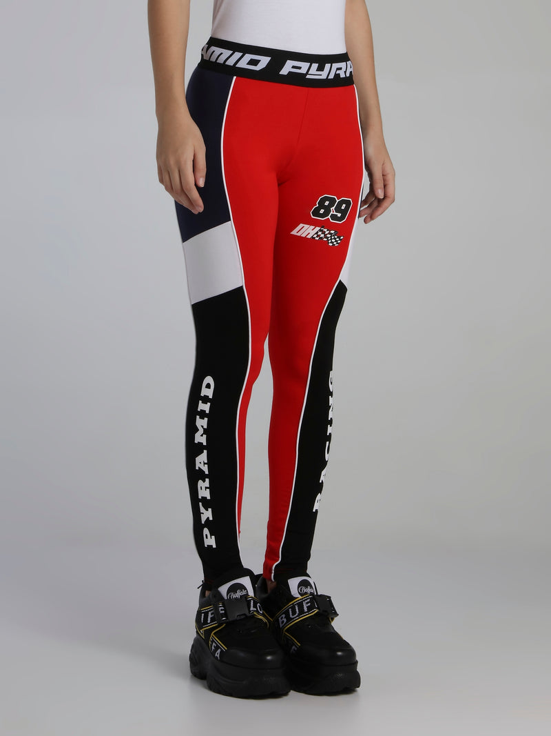 Raceway Log Waistband Active Leggings