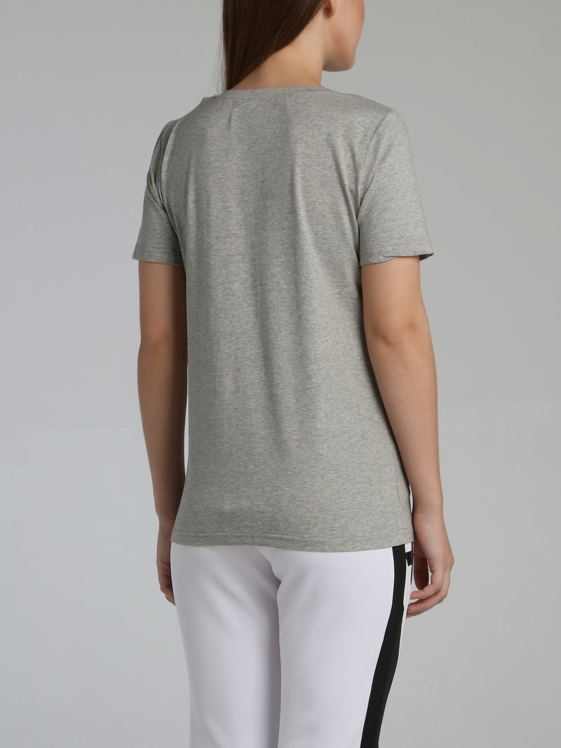 Grey Core 3D Rubber Patch T-Shirt