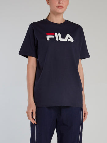 Navy Oversized Logo T-Shirt