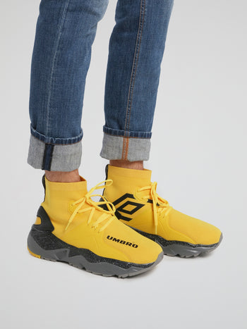 Yellow Runner Future Sock Sneakers