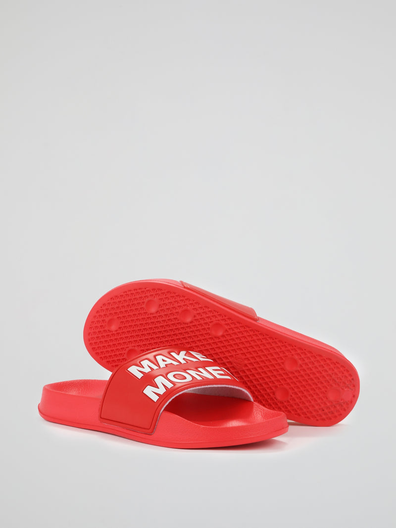 Red Contrast Logo Slides