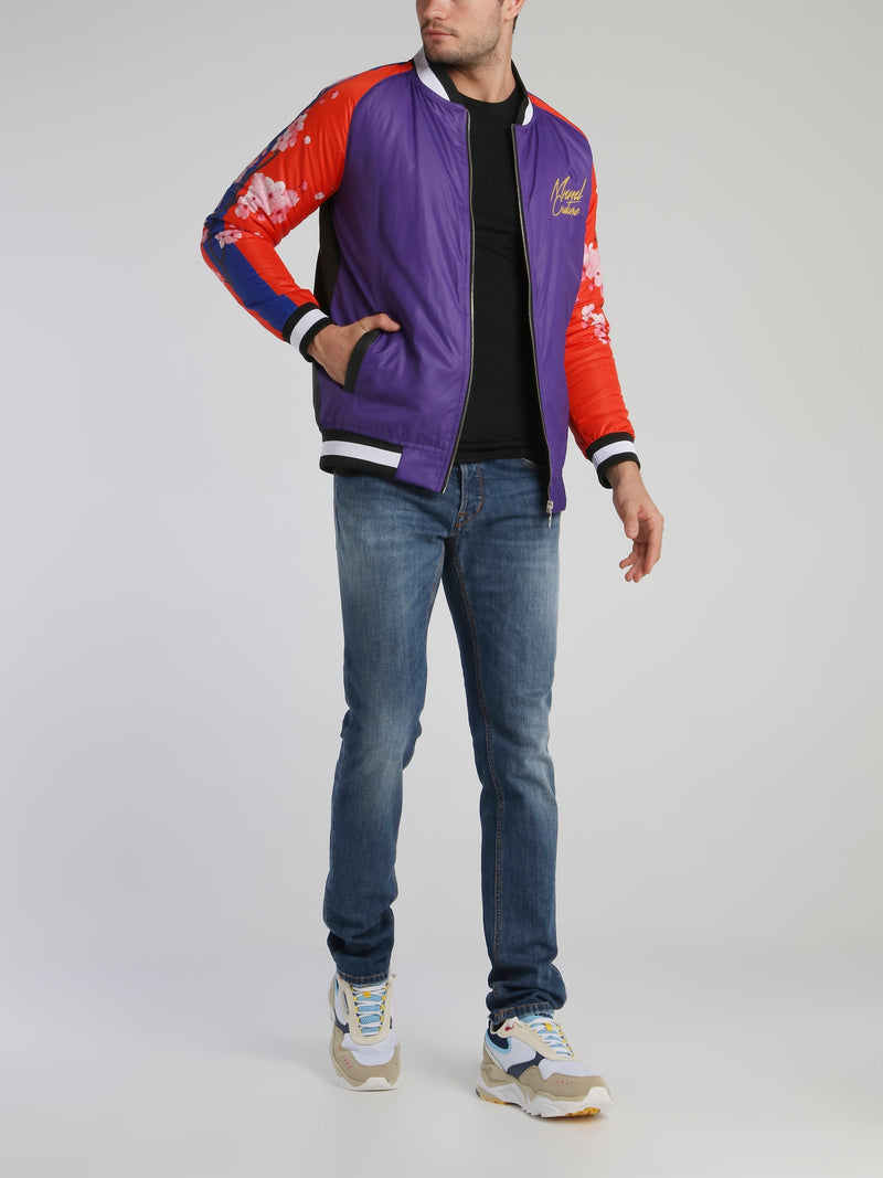 Dragon Retro Raglan Bomber Jacket