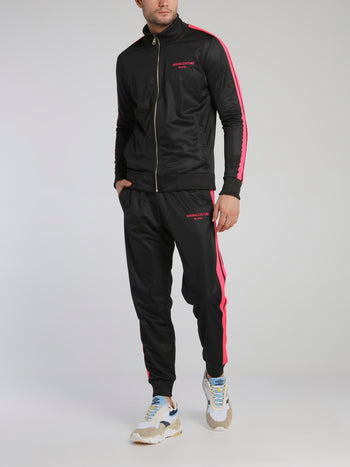 Black Side Stripe Track Pants