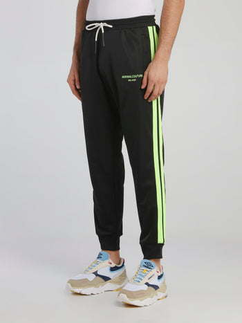 Black Side Stripe Sweatpants