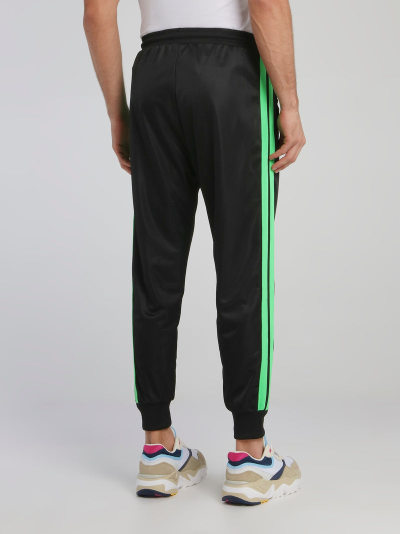 Black Side Stripe Active Pants