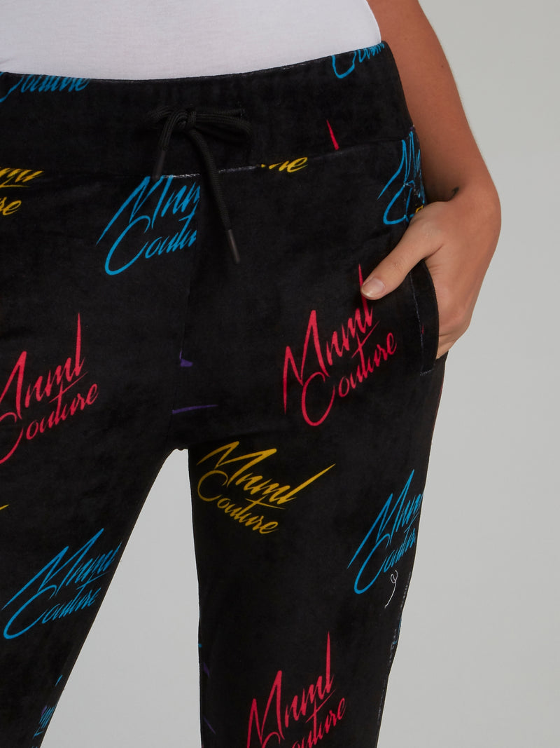 Black Signature All Over Pants