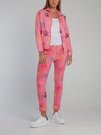 Pink Signature All Over Trousers