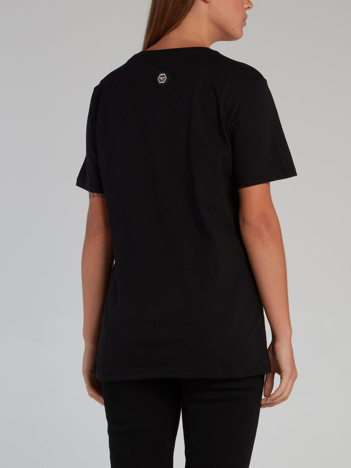 Skull and Plein Black Crewneck T-Shirt
