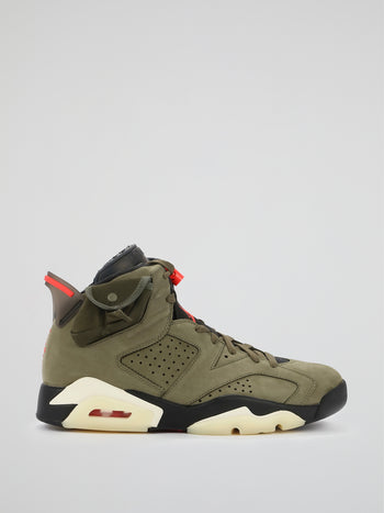 Air Jordan 6 Retro Travis Scott Sneakers, Size - 10