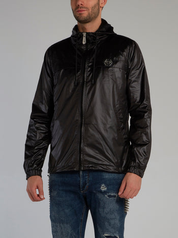 Plein Star Black Nylon Jacket