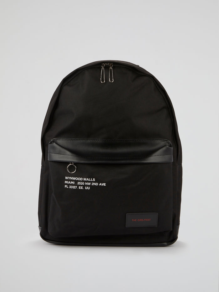 Black Statement Mixture Backpack
