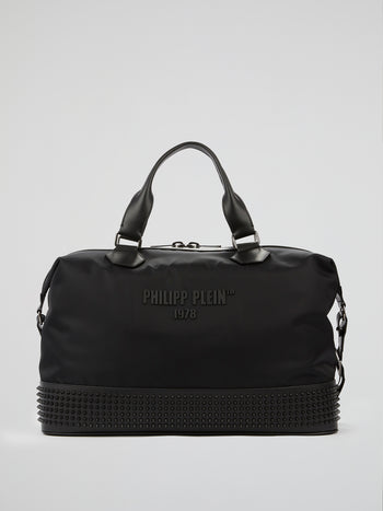 PP1978 Black Spike Studded Travel Bag
