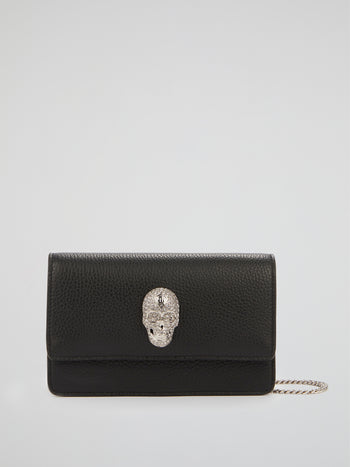 Black Skull Crystal Shoulder Bag