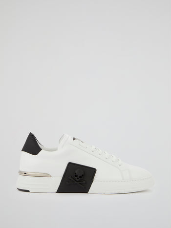 White Phantom Kicks Leather Sneakers