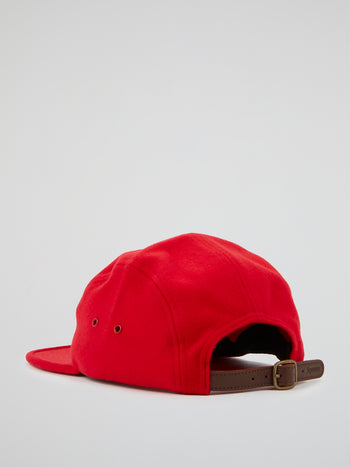 Red Wool Camp Cap