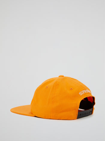 Orange Statement 6-Panel Cap