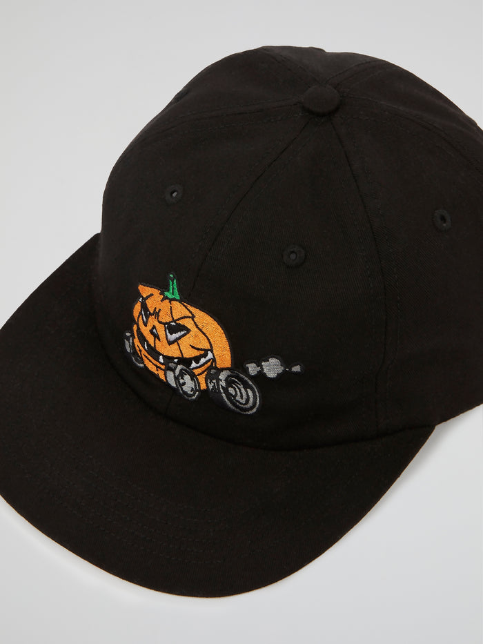Black Pumpkin 6-Panel Cap