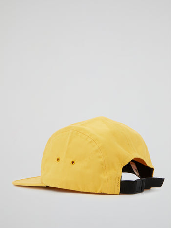 Yellow Jacquard Logos Twill Camp Cap