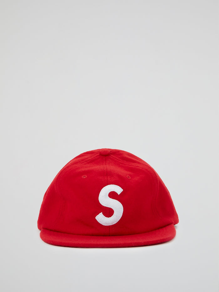 Red Wool S Logo 6-Panel Cap