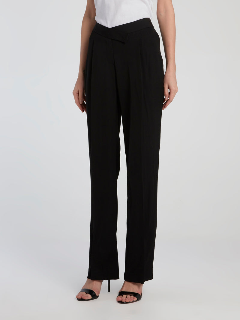 Black Belted Pegged Pants