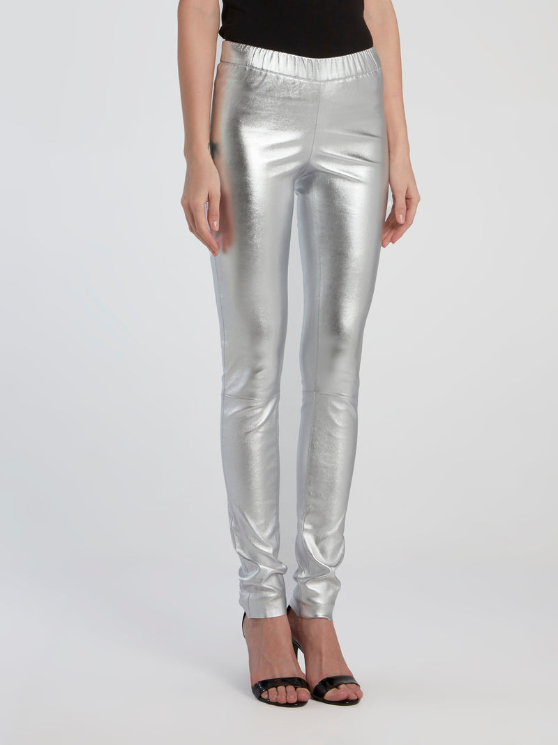 Metallic Stretch Leggings