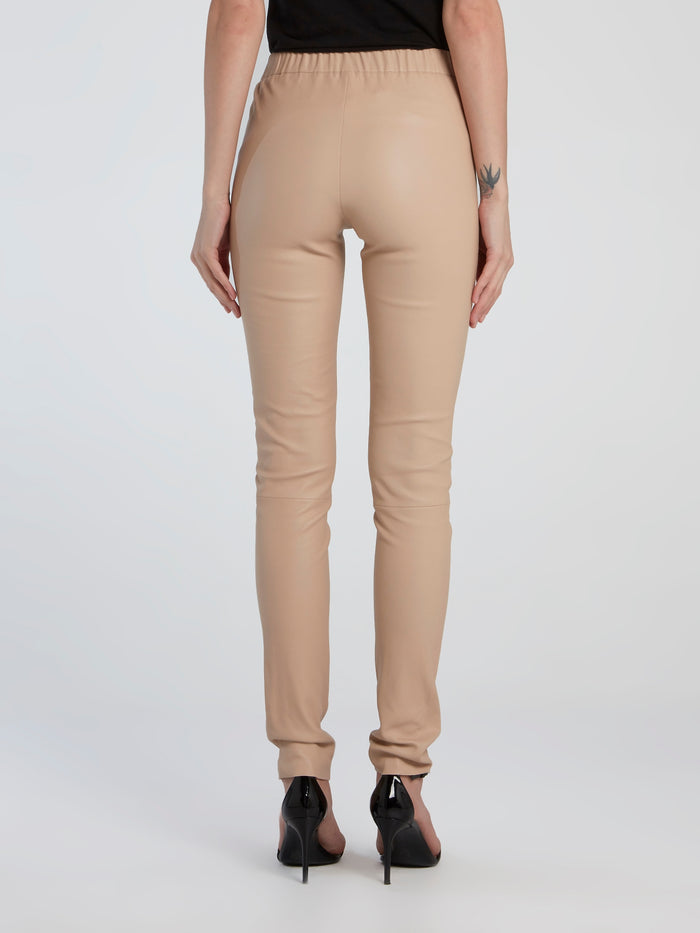 Beige Stretch Leggings