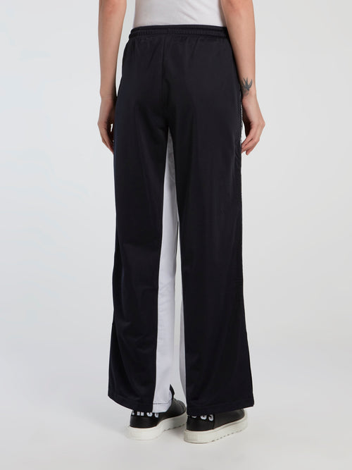 Lina Black Wide Leg Track Pants