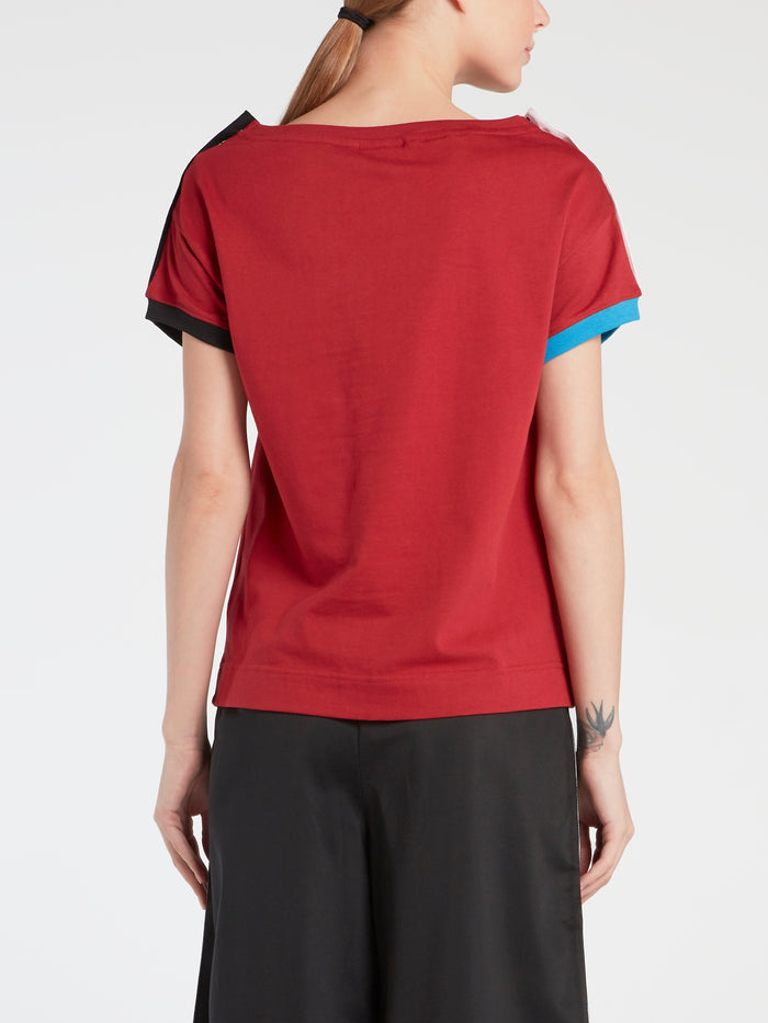 Lina Red Popper T-Shirt