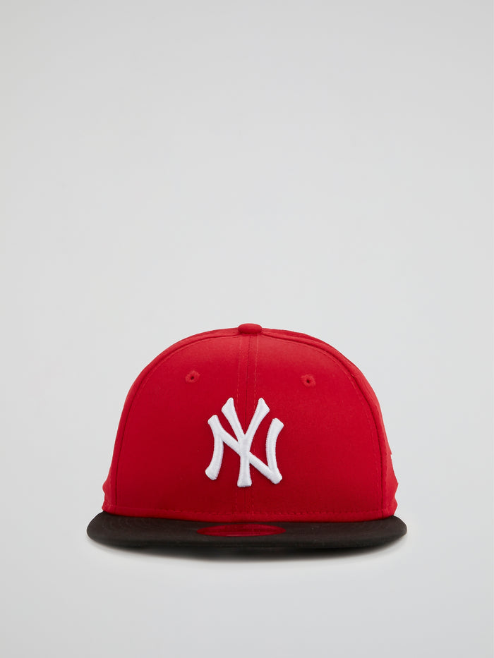 Red MLB Colour Block NY Yankee Cap - 9Fifty (Snapback)