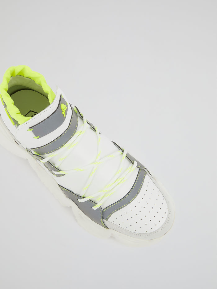 White Runner Monster 0.2 High Top Sneakers